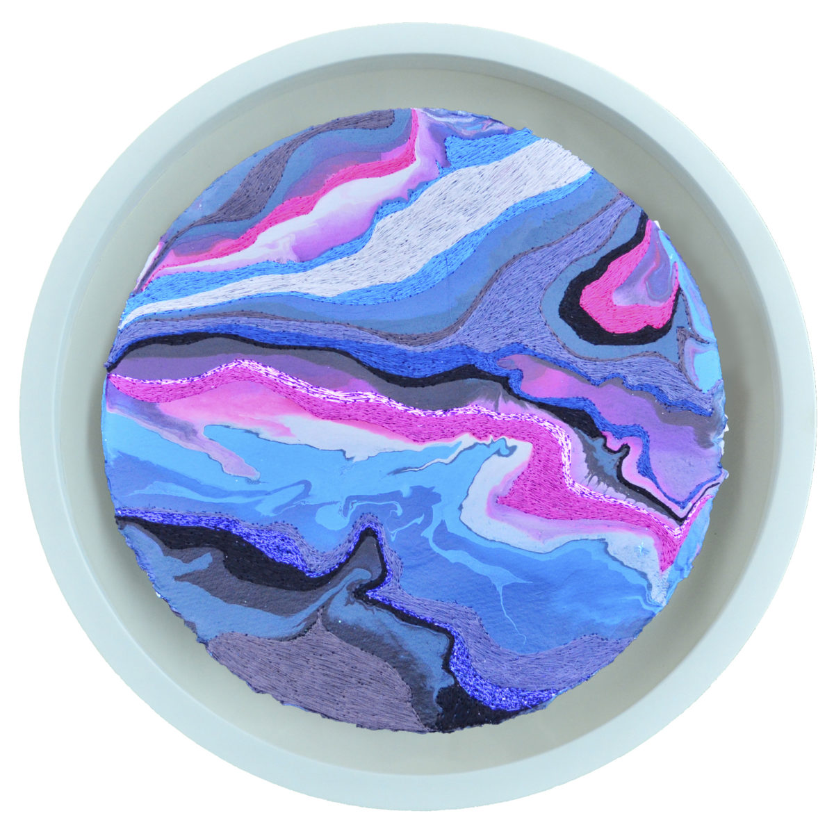 1 Pink Blue Berry Paper Disk In Frame 2018