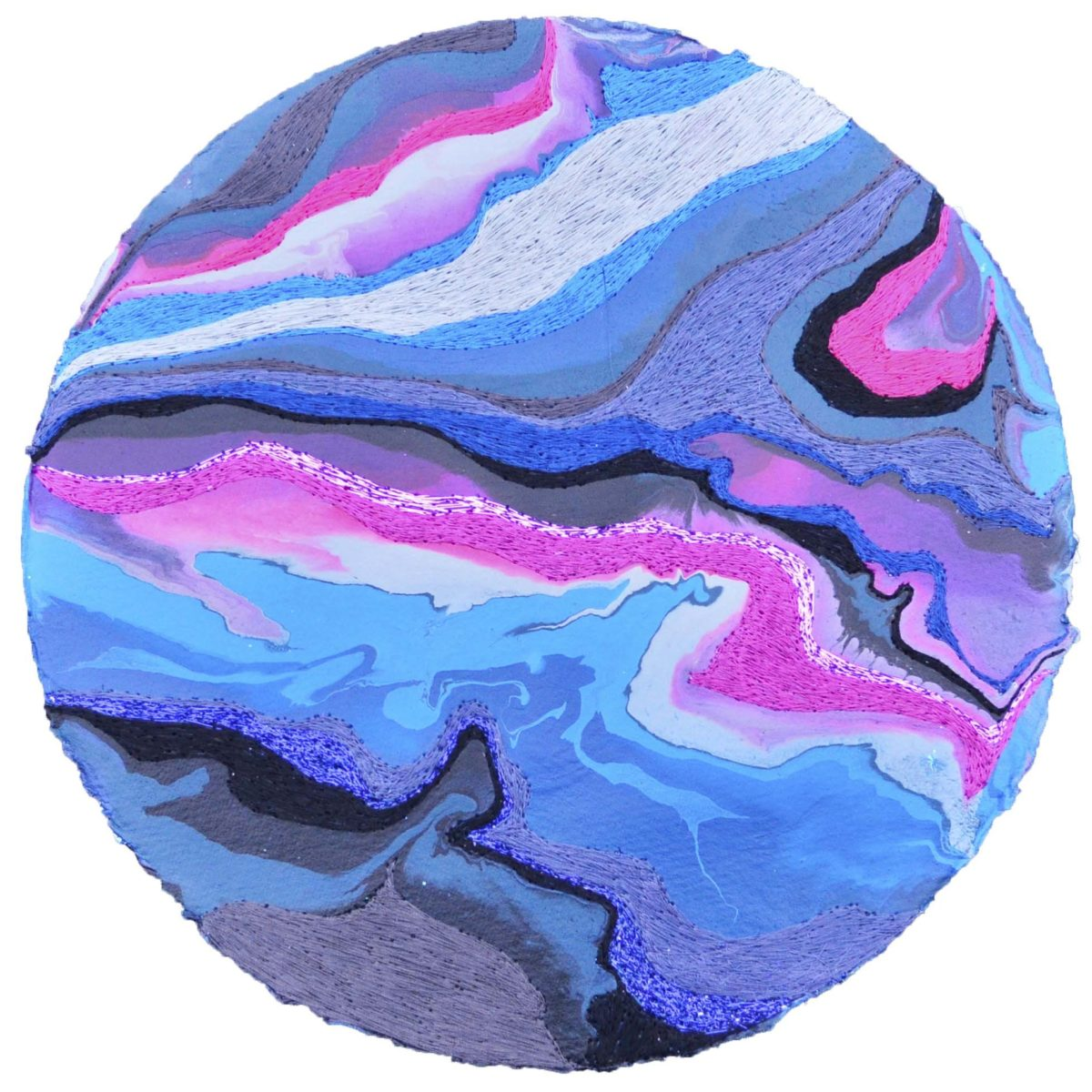 Small Pink Blue Berry Paper Disk 2018
